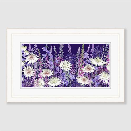 Midnight Garden of Wonder (Landscape) Print