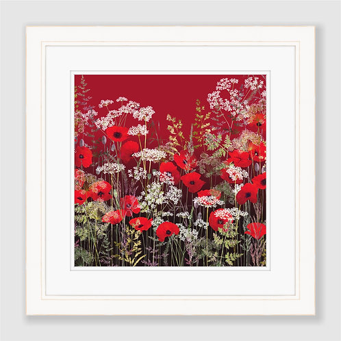 Poppy Field at Sunset Print