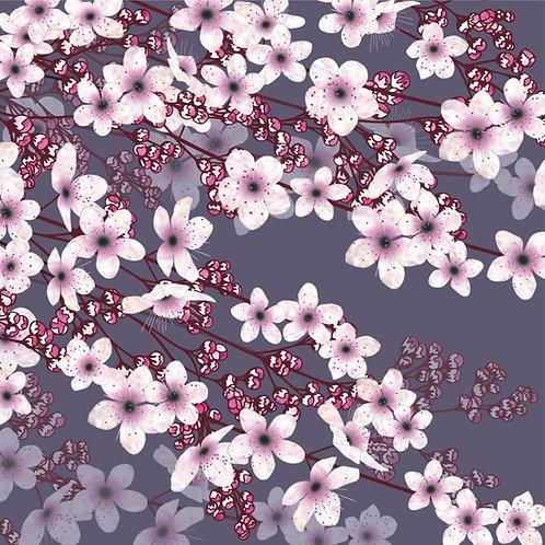 Flower Art / Floral Greeting Card 'Spring Blossom' (blossom, pink blossom, cherry blossom, spring, spring blossom)