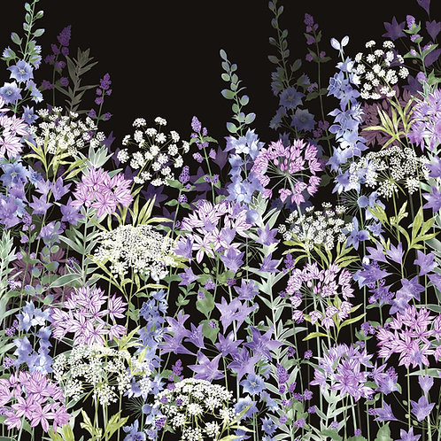 Midnight Floral Symphony Card