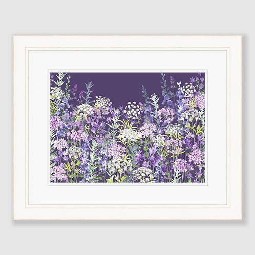 Dusky Floral Symphony (Landscape) Print