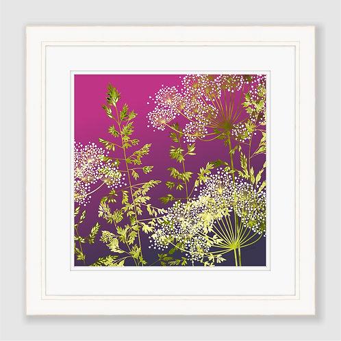 Sunset Florets Print