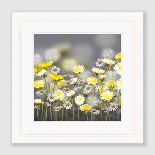 Dandelion and Daisy Meadow Print