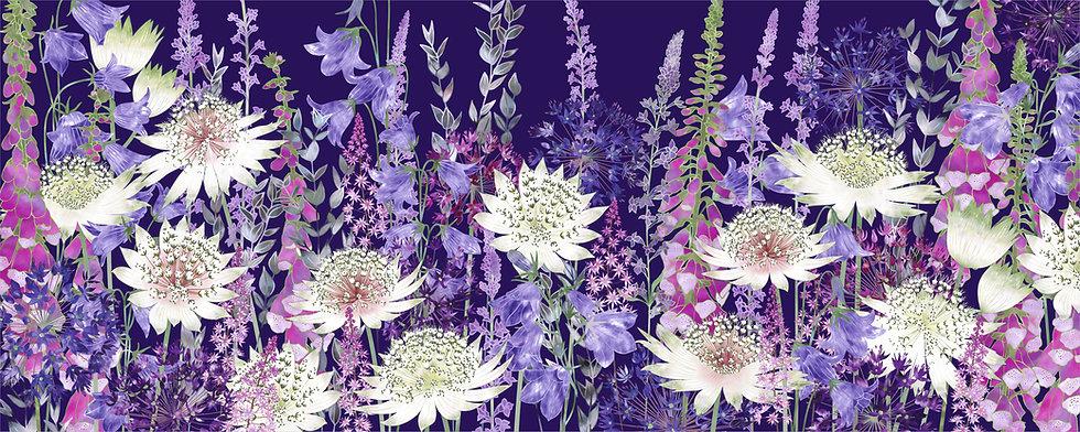 Midnight Garden of Wonder Floral Art Print