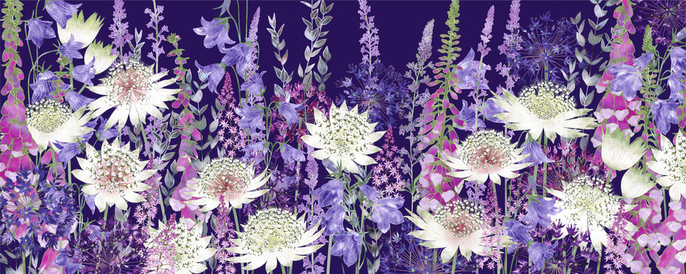Midnight Garden of Wonder Floral Art Print