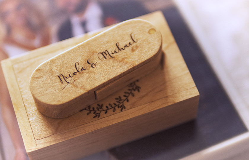 Personalised wedding gifts with select wedding videography packages.