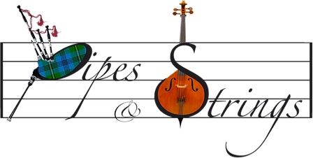 Pipes and strings logo