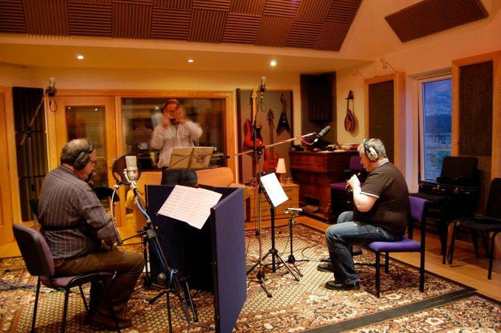 Allan & Iain recording