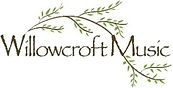 Willowcroft Music Logo. Name and willow tree branch