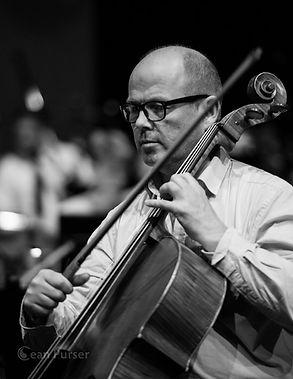 Photo of Neil Johnstone playing cello