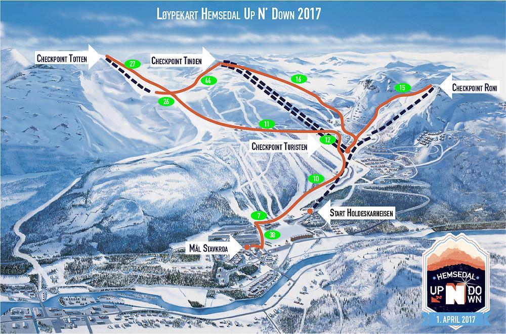 Kart Hemsedal Up N' Down 2017