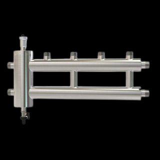 GSK 25-2.1 ECO, Распределительный коллектор с гидрострелкой ECO 60 кВт, 2+1 конт