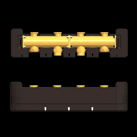купить 7741068 Латунный распределительный коллектор DN32 на 2 насосных группы в Viessmann-Russia Самара