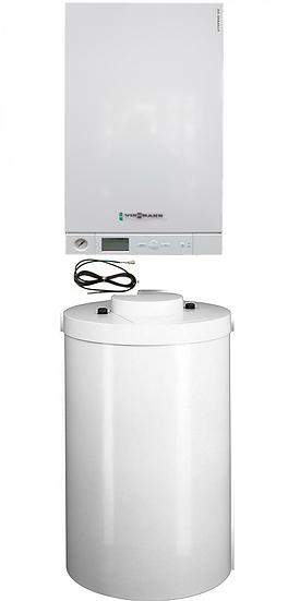 A1HB026 Котел Vitopend 100-W, 29,9 кВт с бойлером 100 л, и датчиком температуры