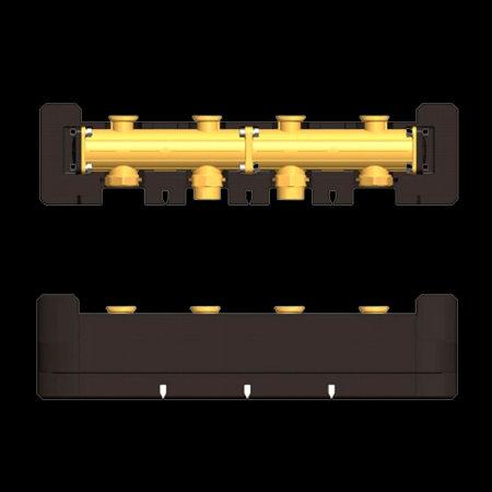 купить 7741065 Латунный распределительный коллектор Виссманн DN25 на 2 насосные группы в Viessmann-Russia Самара