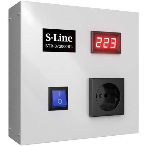Стабилизатор напряжения S-LINE, STR-3/2000RL, 2000 ВA