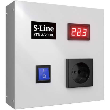 Стабилизатор напряжения S-LINE, STR-3/2000L, 2000 ВA