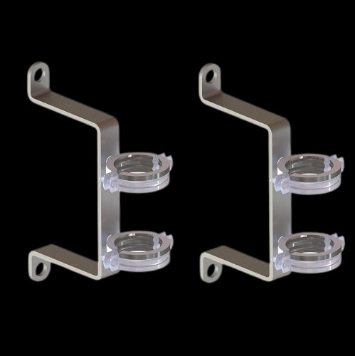 KR-02, Крепёж для коллекторов серии GSK и GK из оцинкованной стали (2 шт.)