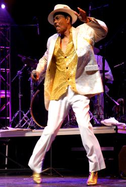 Freddie B on stage