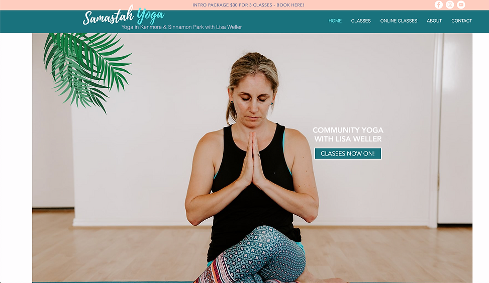 Samastah Yoga | Website Design by Leila