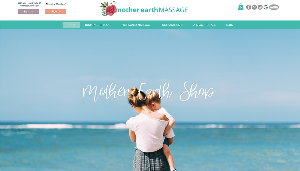 Mother Earth Massage Website by Leila Mc