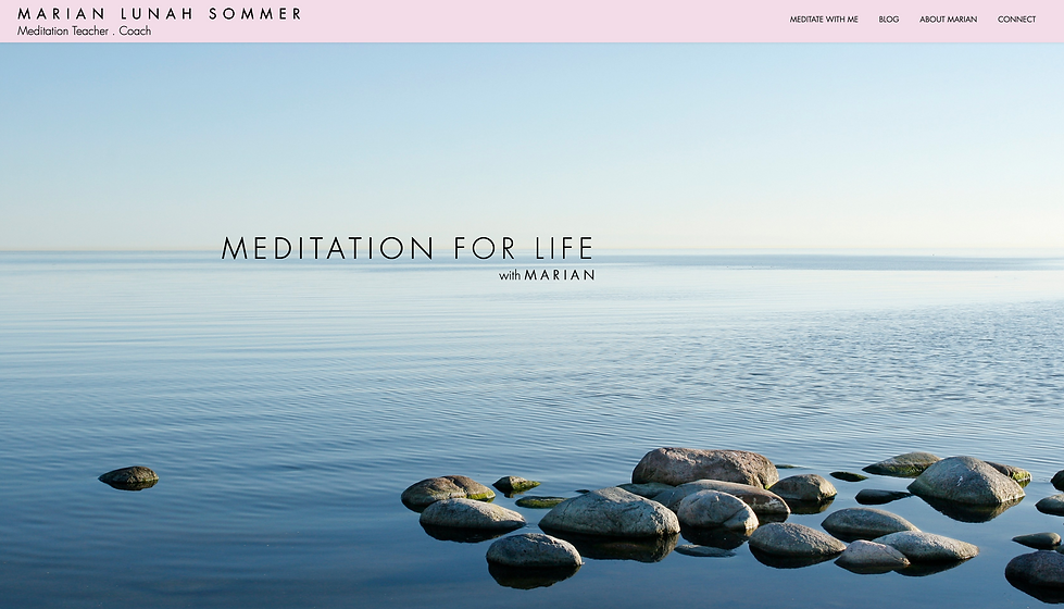 Marian Sommer Meditation _ Website Desig