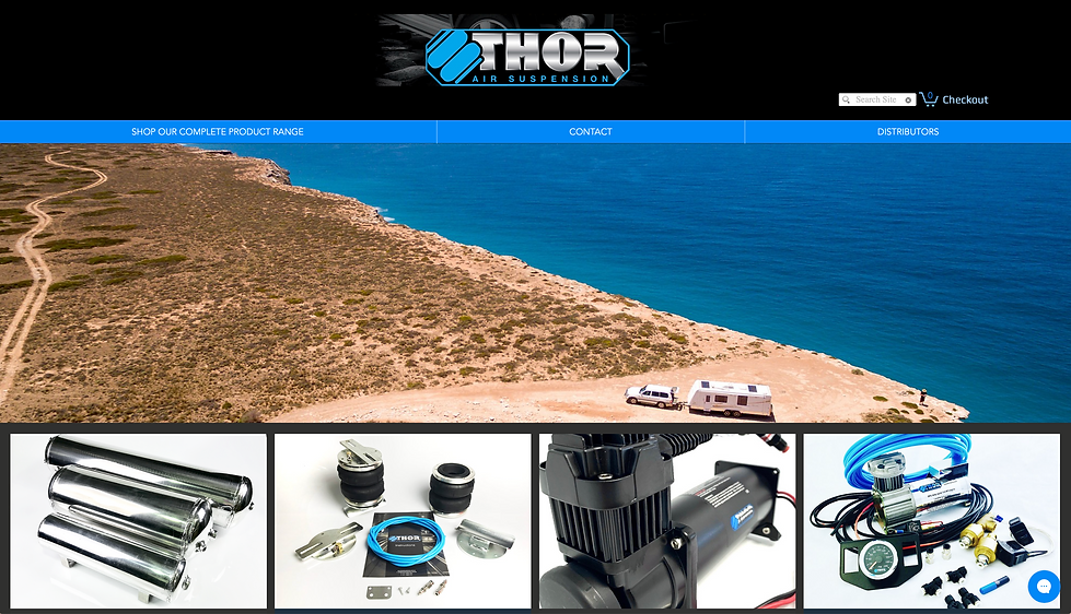 Leila McKail Website Design - Thor Air S