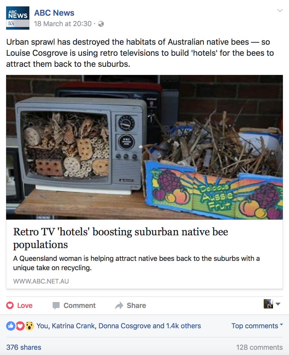 For Bees Retro Retreats - ABC Facebook Post