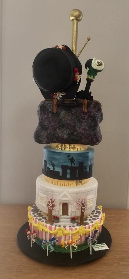 A Mary Poppins cake, which stood over a metre tall