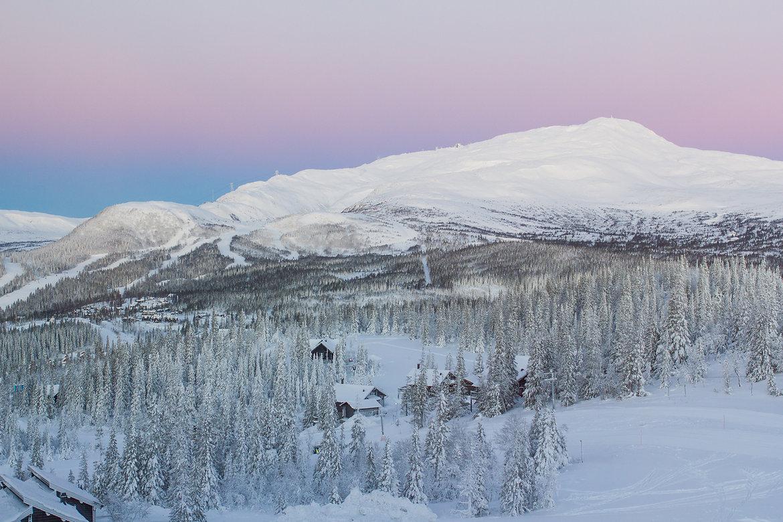 Schweden Foto von das Berg von Åre, Region Jämtland in Norrland - Nordschweden