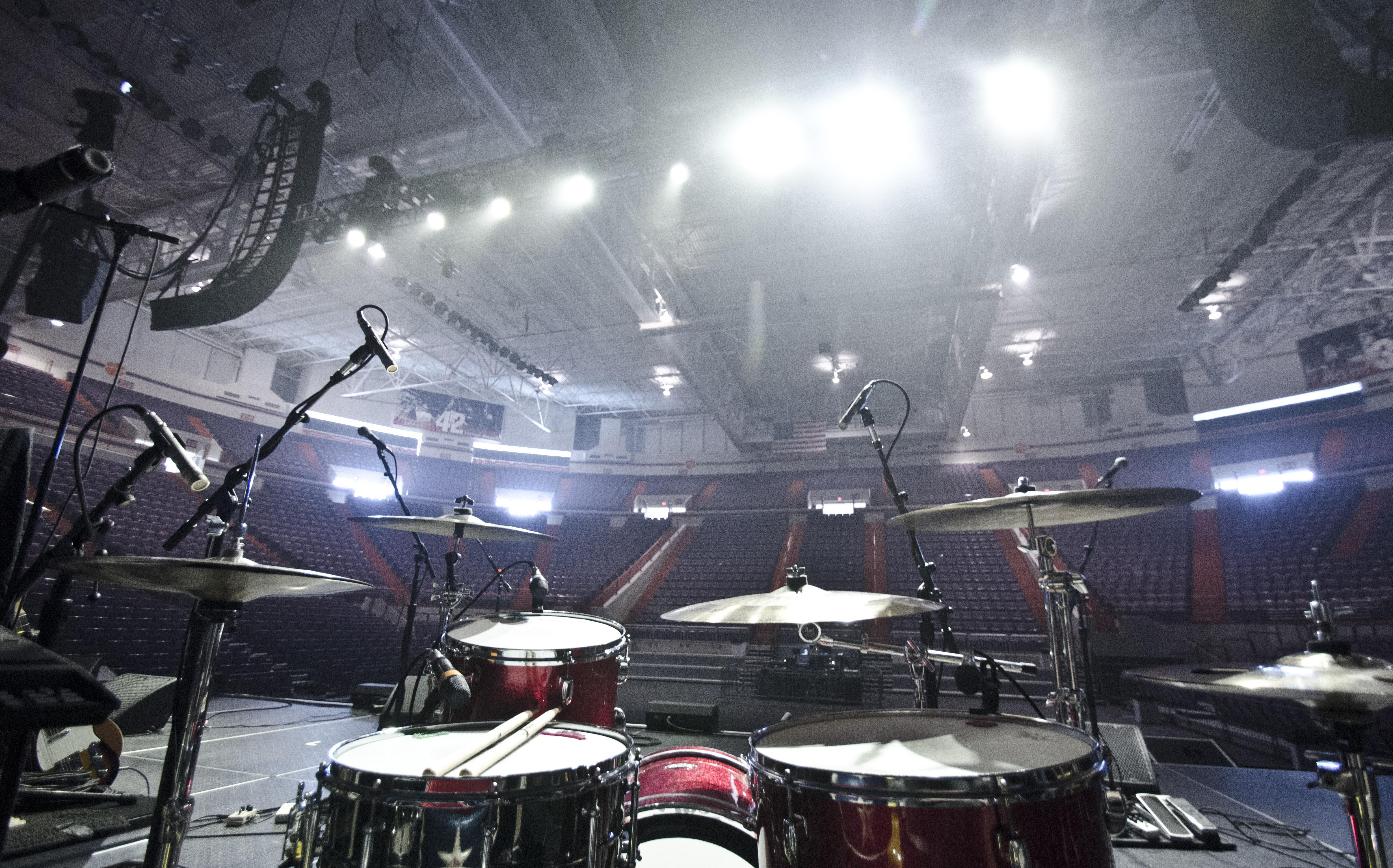 Josh Daubin Drum Setup Clemson
