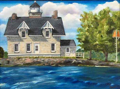 Island Lighthouse - 16 x 20