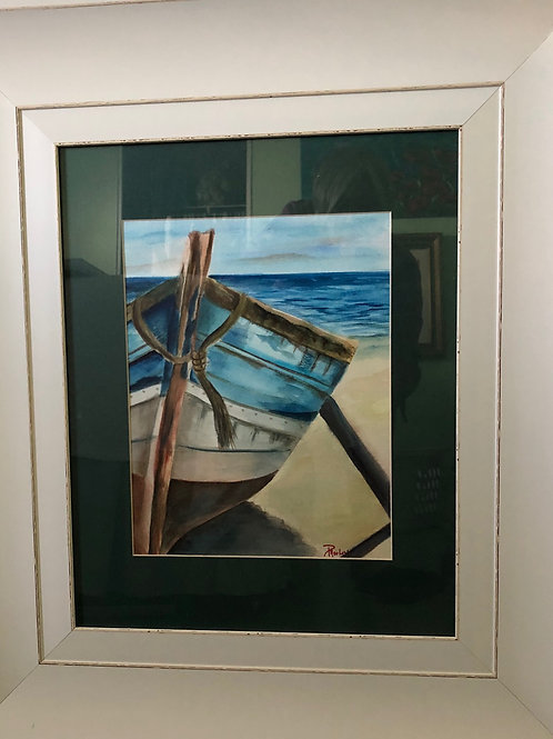 """""""Beached Boat"""" watercolor"""