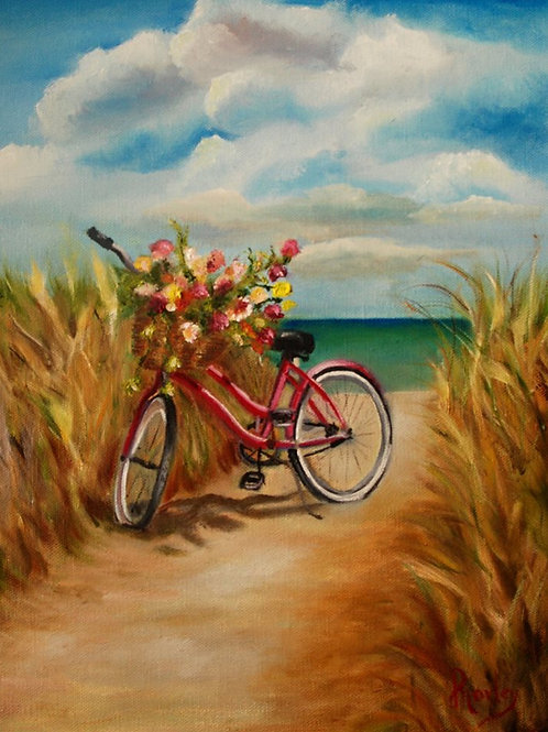 Bike Break 16 x 20 print