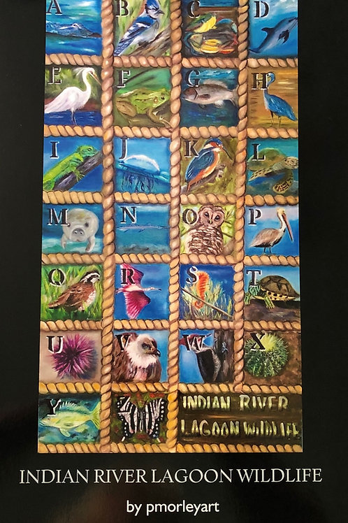 """""""Indian River Wildlife"""" poster"""
