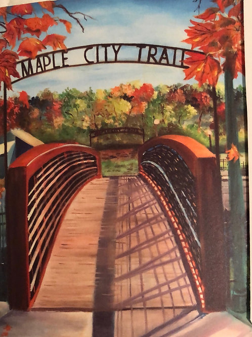 Maple CityTrail Notecard