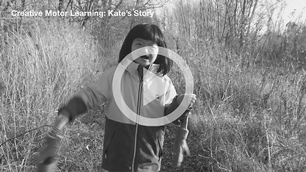 Kate, a child with a genetic syndrome, running along a path