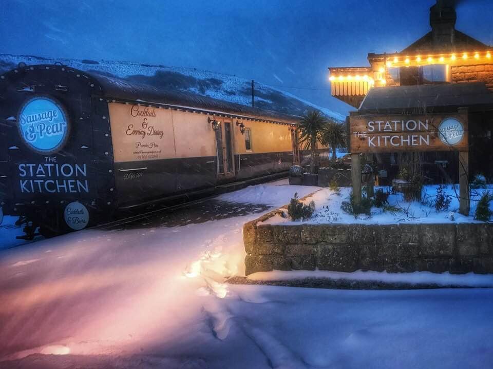 The Station Kitchen is an idyllic winter wedding venue in Bridport, Dorset