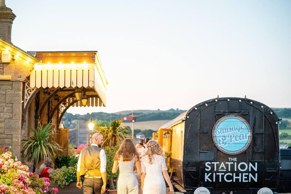 Station kitchen platform during a wedding