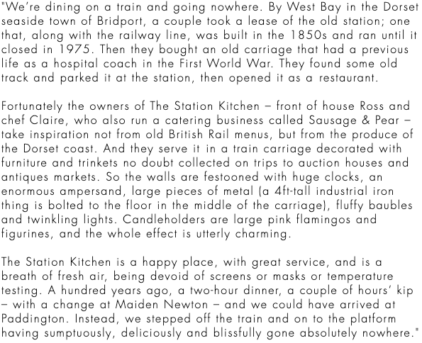 William Sitwell reviews the station kitchen restaurant