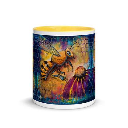Bee Mug with Color Inside