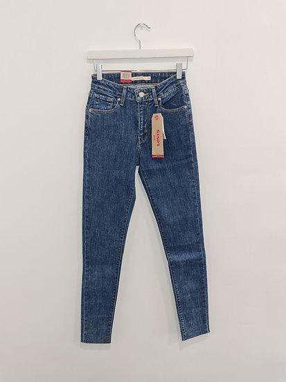 Jeans LEVIS 721 HIGH RISE SKINNY Bleu moucheté