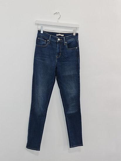 Jeans LEVIS 721 HIGH RISE SKINNY Bleu foncé