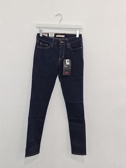 Jeans LEVIS 711 SKINNY Bleu foncé stretch