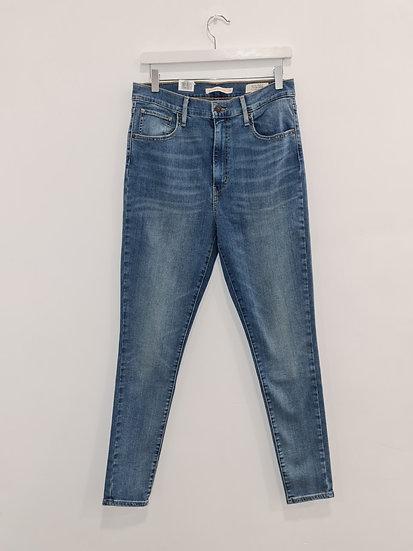 Jeans LEVIS MILE HIGH SUPER SKINNY Bleu délavé