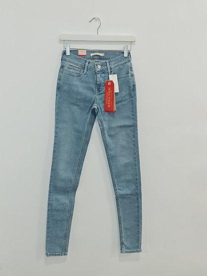 Jeans LEVIS 710 SUPER SKINNY Bleu clair