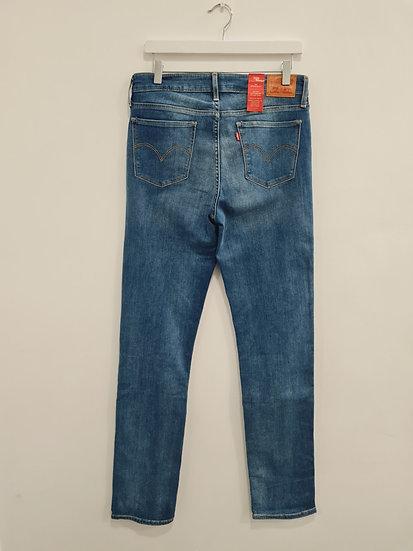 Jeans LEVIS 714 STRAIGHT Bleu denim