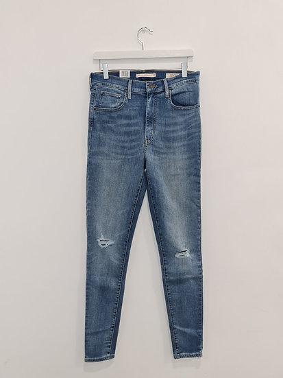 Jeans LEVIS MILE HIGH SUPER SKINNY Bleu trou