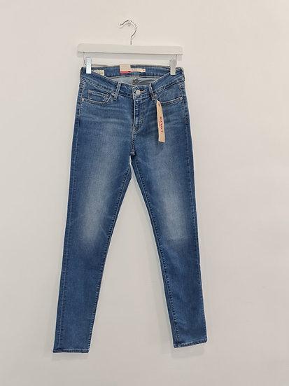 Jeans LEVIS 711 SKINNY Bleu denim
