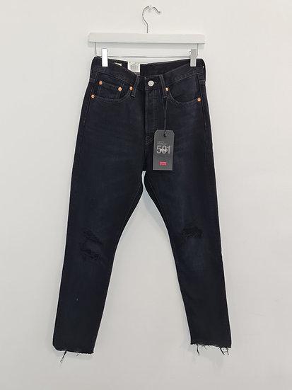 Jeans LEVIS 501 Noir à trous